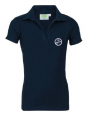 Girls Stretch-Poloshirt, short sleeves, without buttons